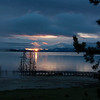 First light across Yellowstone Lake