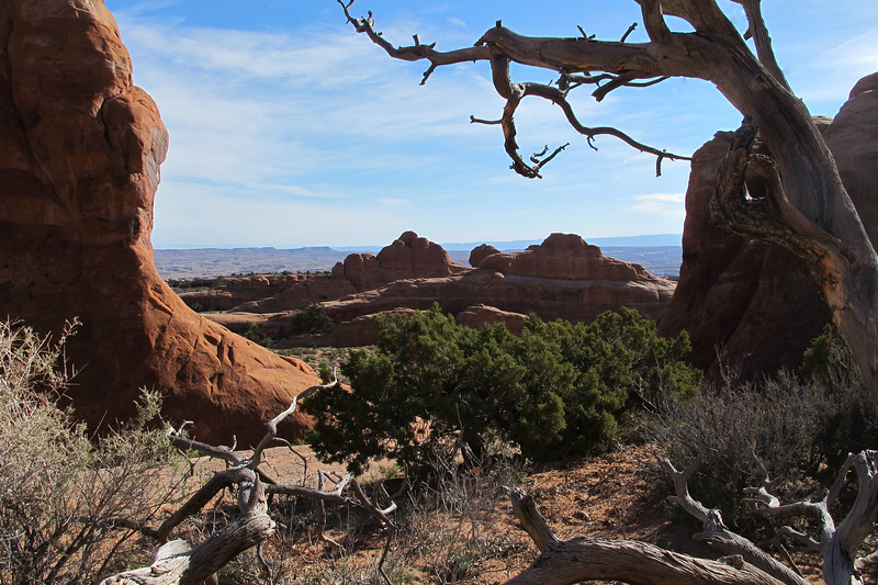 Looking back from Landscape Arch