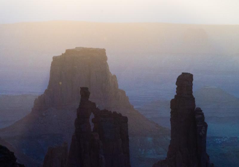 Thru Mesa Arch after Sunrise