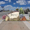 Rendering of gateway sign in Cortez, Colorado. The sign was designed in collaboration with the Ute Mountain Ute tribe and includes culturally relevant symbols that honor and respect the tribe. This was one manifestation of improved communication between the tribe and the town that came out of Community Heart & Soul™.