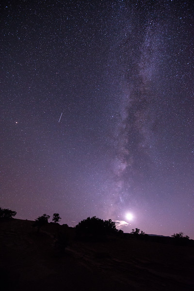 Milky Way and the Moon (after our RS trip)