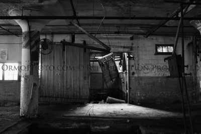 Elevator Shaft and Door (B&W)
