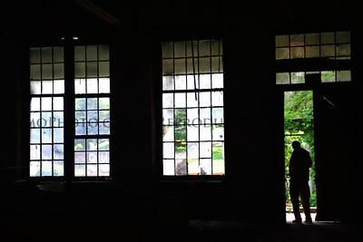 Silhouette in Open Door