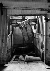 Elevator Shaft (B&W)