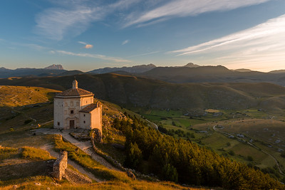 Morning light on Campo Imperatore and the chapel