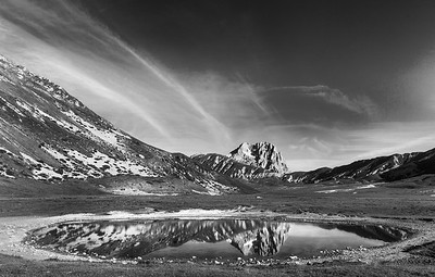 Reflection of Corno Grande