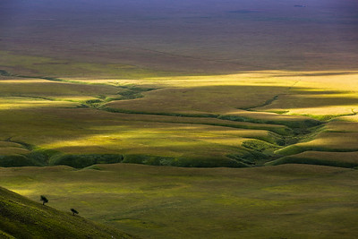 Sunlight over Piano Grande at Castelluccio