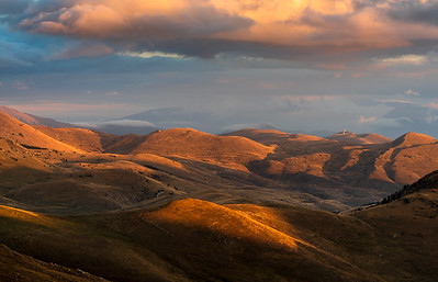 Campo Imperatore at sunset