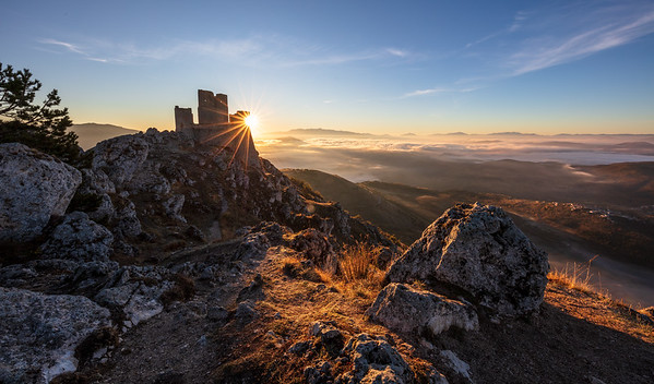 Morning at the old castle