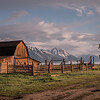 Mormon Barn at Sunrise