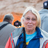 Lois at Mesa Arch, Island in the Sky - Canyonlands National Park
