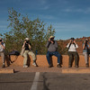 The Shooters - after hiking down the Park Avenue trail, Arches National Park