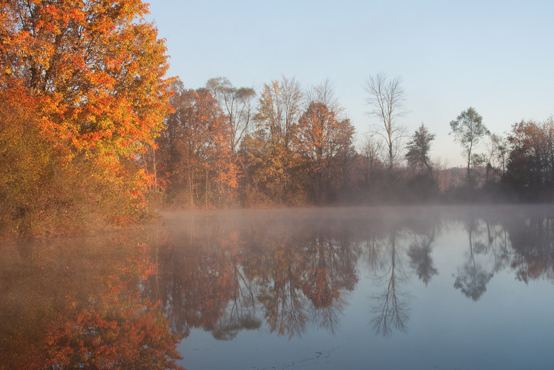Misty morning at Tinker's Creek Nature Preserve.