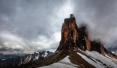 Tre Cime di Lavaredo in the morning