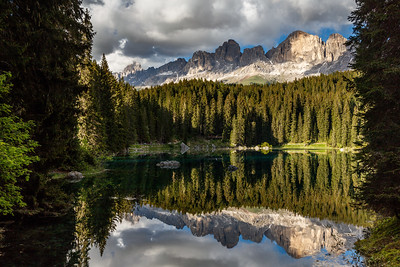 Lago di Carezza in late afternoon light