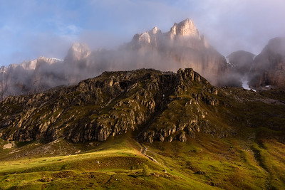 Sella mountain in morning light