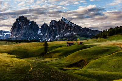 Alpe di Siusi in morning light