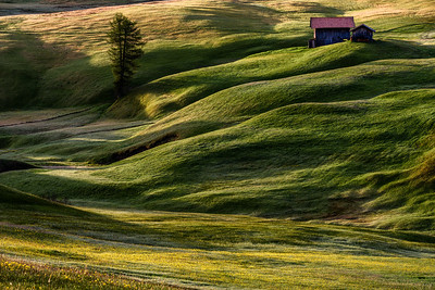 Lonely house in Alpe di Siusi