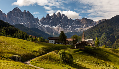 Santa Maddalena church in morning light
