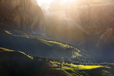 Light in the morning at Sella mountain