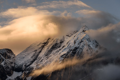 Ealy morning light on the Marmolada mountain