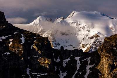 The Marmolada mountain in morning light