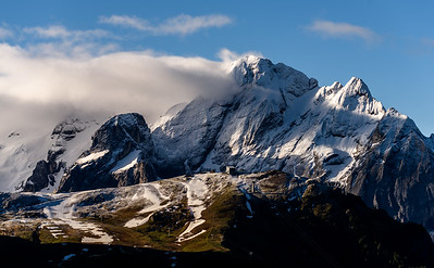 Morning light on the Marmolada mountain