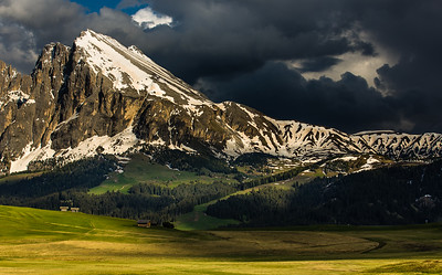 Dramatic light in Alpe di Siusi