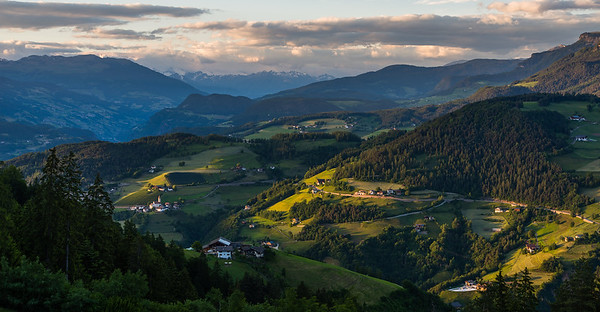 Landscape at sunset in the Dolomites