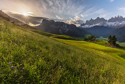 Morning in the Dolomites