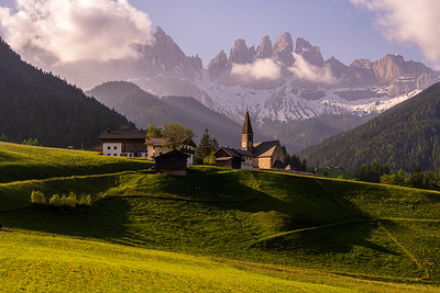Santa Maddalena Church in the light