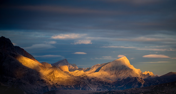 Morning light on mountains