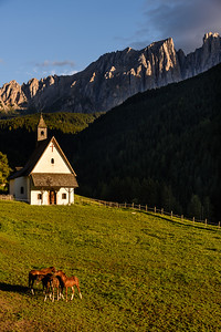 Church with horses