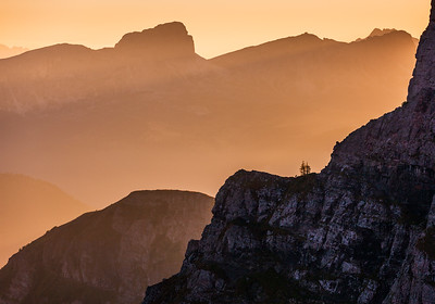 Morning viewpoint in the Dolomites