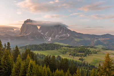 First sunlight in the alps