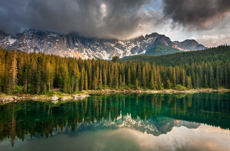 Lago di Carezza in Afternoon Light