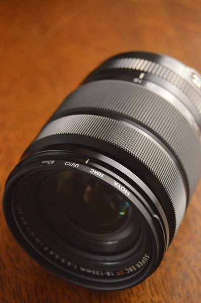 shallow depth of field image of camera lens