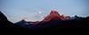 Moonset over Mt. Wilbur
