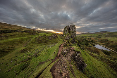 In the Fairy Glen at sunset