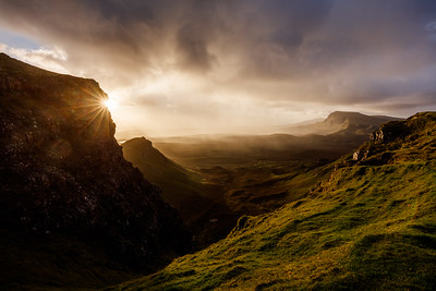 Rising sun at the Quiraing