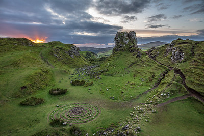 Sunset at Fairy Glen