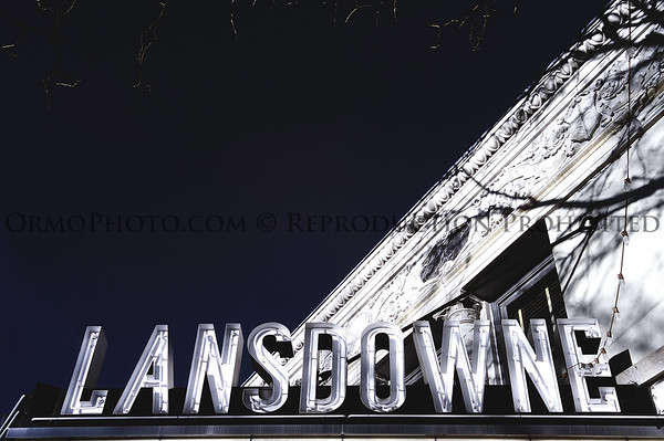 Lansdowne Theater Marquee (digital infrared)