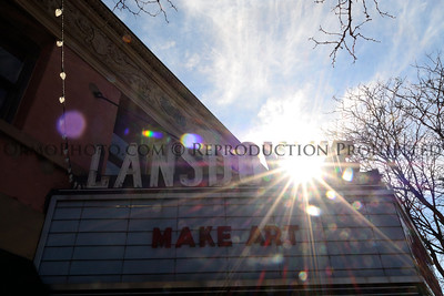 Lansdowne Theater Marquee on a warm February day