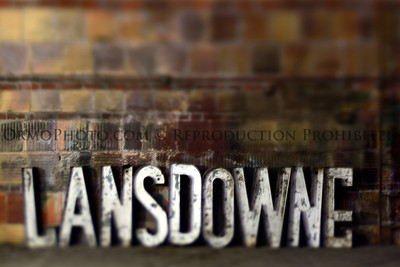 Lansdowne Theater sign backstage