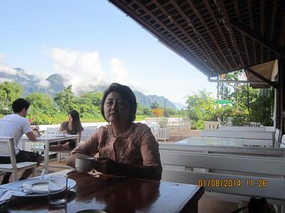 Thin Thin Moe in Vang Vieng TOT