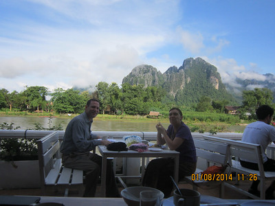 Bruce and Wendy in Vang Vieng