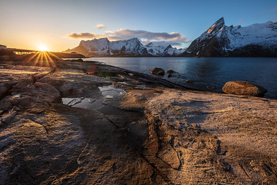 Sunset at Hamnøy