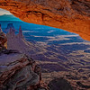 Through Mesa Arch at Sunrise
