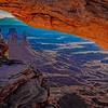 Through Mesa Arch at Sunrise