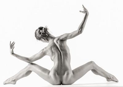 A ballet dancers back